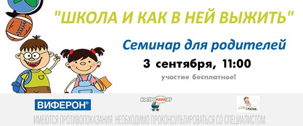 Семинар Школа и как в ней выжить, Кострома 2017